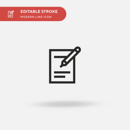 Plan Simple vector icon. Illustration symbol design template for web mobile UI element. Perfect color modern pictogram on editable stroke. Plan icons for your business project