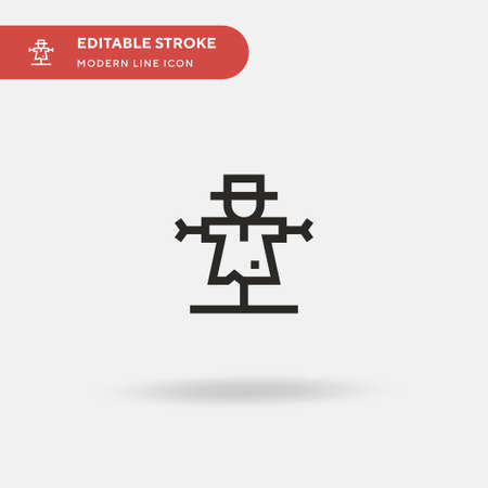 Scarecrow Simple vector icon. Illustration symbol design template for web mobile UI element. Perfect color modern pictogram on editable stroke. Scarecrow icons for your business project