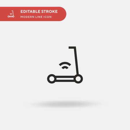 Electric Scooter Simple vector icon. Illustration symbol design template for web mobile UI element. Perfect color modern pictogram on editable stroke. Electric Scooter icons for your business project