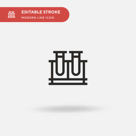 Test Tubes Simple vector icon. Illustration symbol design template for web mobile UI element. Perfect color modern pictogram on editable stroke. Test Tubes icons for your business project