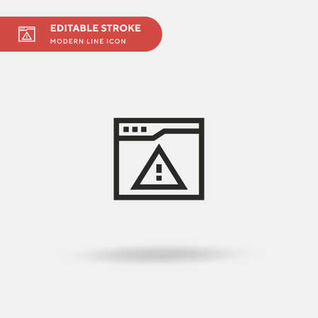 Warning Simple vector icon. Illustration symbol design template for web mobile UI element. Perfect color modern pictogram on editable stroke. Warning icons for your business project