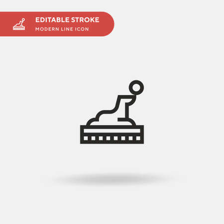 Seal Simple vector icon. Illustration symbol design template for web mobile UI element. Perfect color modern pictogram on editable stroke. Seal icons for your business project