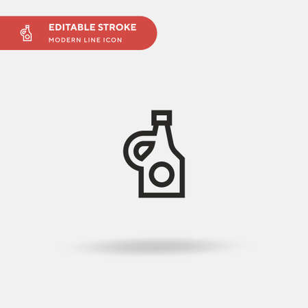 Beer Bottle Simple vector icon. Illustration symbol design template for web mobile UI element. Perfect color modern pictogram on editable stroke. Beer Bottle icons for your business project Ilustracja