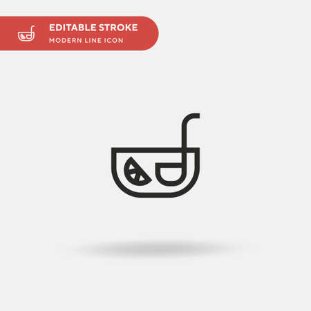 Punch Simple vector icon. Illustration symbol design template for web mobile UI element. Perfect color modern pictogram on editable stroke. Punch icons for your business project Ilustracja