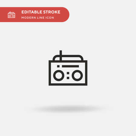 Radio Simple vector icon. Illustration symbol design template for web mobile UI element. Perfect color modern pictogram on editable stroke. Radio icons for your business project