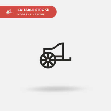 Chariot Simple vector icon. Illustration symbol design template for web mobile UI element. Perfect color modern pictogram on editable stroke. Chariot icons for your business project Ilustracja