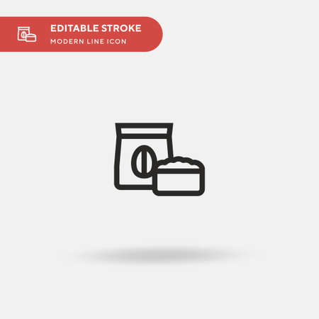 Oat Simple vector icon. Illustration symbol design template for web mobile UI element. Perfect color modern pictogram on editable stroke. Oat icons for your business project