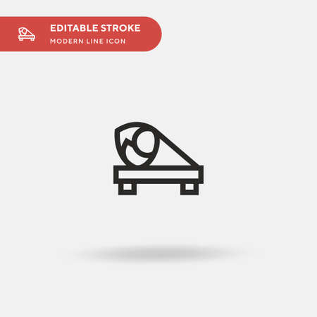 Temaki Simple vector icon. Illustration symbol design template for web mobile UI element. Perfect color modern pictogram on editable stroke. Temaki icons for your business project