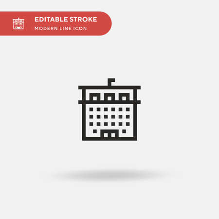 Institution Simple vector icon. Illustration symbol design template for web mobile UI element. Perfect color modern pictogram on editable stroke. Institution icons for your business project