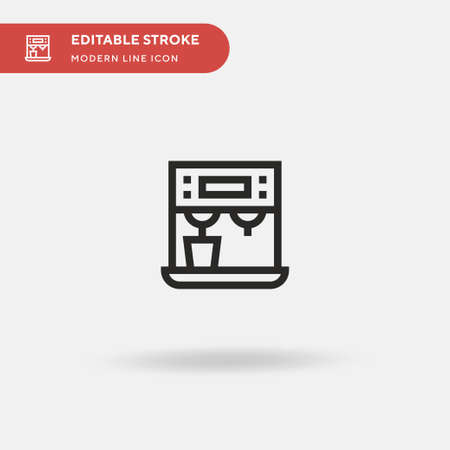 Coffee Machine Simple vector icon. Illustration symbol design template for web mobile UI element. Perfect color modern pictogram on editable stroke. Coffee Machine icons for your business project Illusztráció