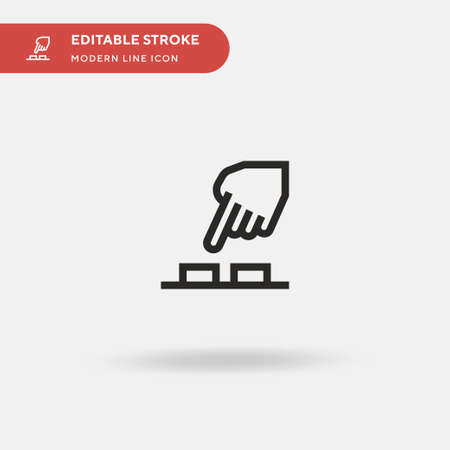 Press Button Simple vector icon. Illustration symbol design template for web mobile UI element. Perfect color modern pictogram on editable stroke. Press Button icons for your business project Ilustração