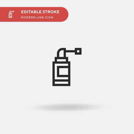 Spray Simple vector icon. Illustration symbol design template for web mobile UI element. Perfect color modern pictogram on editable stroke. Spray icons for your business project Illustration