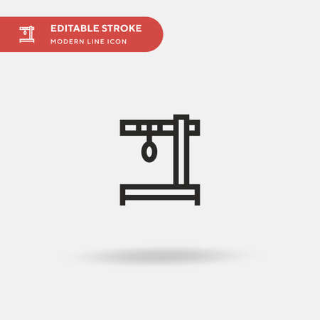 Decapitate Simple vector icon. Illustration symbol design template for web mobile UI element. Perfect color modern pictogram on editable stroke. Decapitate icons for your business project Illusztráció