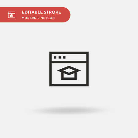 Mortarboard Simple vector icon. Illustration symbol design template for web mobile UI element. Perfect color modern pictogram on editable stroke. Mortarboard icons for your business project Vettoriali