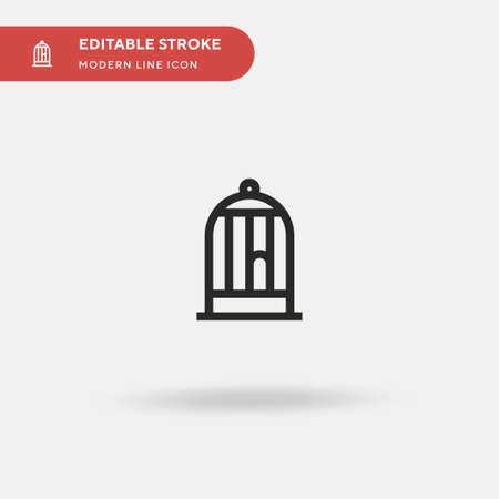 Animals Simple vector icon. Illustration symbol design template for web mobile UI element. Perfect color modern pictogram on editable stroke. Animals icons for your business project Vettoriali