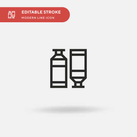 Oil Paint Simple vector icon. Illustration symbol design template for web mobile UI element. Perfect color modern pictogram on editable stroke. Oil Paint icons for your business project