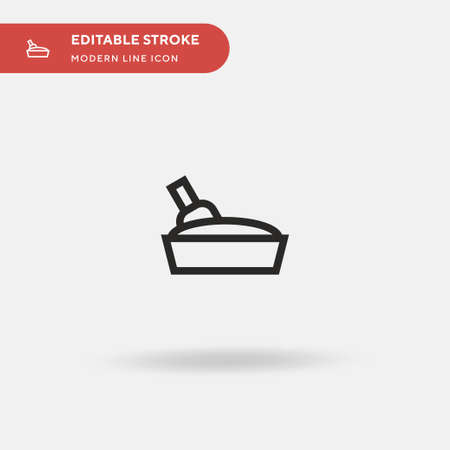 Litter Box Simple vector icon. Illustration symbol design template for web mobile UI element. Perfect color modern pictogram on editable stroke. Litter Box icons for your business project