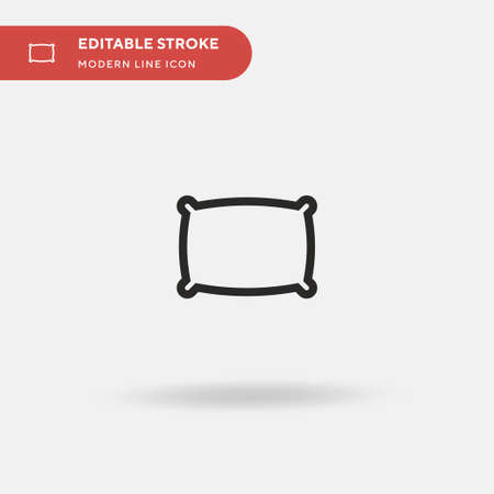 Comfortable Simple vector icon. Illustration symbol design template for web mobile UI element. Perfect color modern pictogram on editable stroke. Comfortable icons for your business project Ilustração