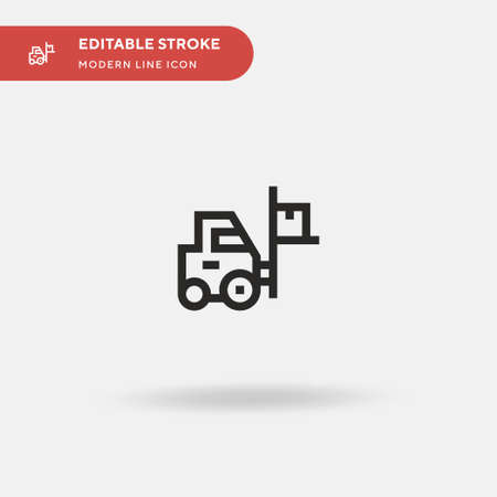Forklift Simple vector icon. Illustration symbol design template for web mobile UI element. Perfect color modern pictogram on editable stroke. Forklift icons for your business project
