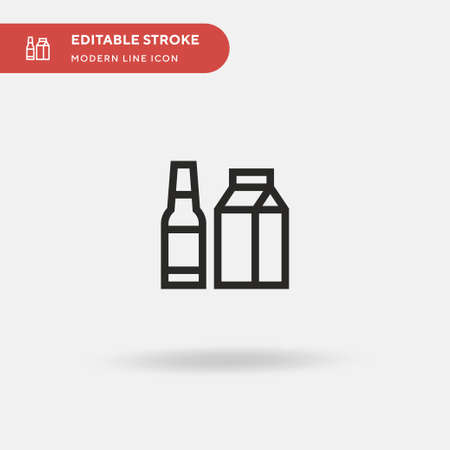 Packaging Simple vector icon. Illustration symbol design template for web mobile UI element. Perfect color modern pictogram on editable stroke. Packaging icons for your business project