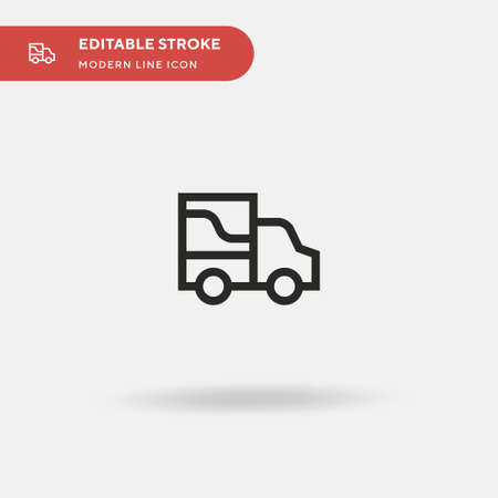 Delivery Truck Simple vector icon. Illustration symbol design template for web mobile UI element. Perfect color modern pictogram on editable stroke. Delivery Truck icons for your business project Illusztráció