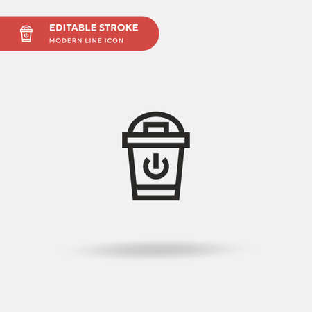 Trash Simple vector icon. Illustration symbol design template for web mobile UI element. Perfect color modern pictogram on editable stroke. Trash icons for your business project