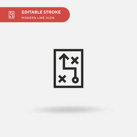 Planning Simple vector icon. Illustration symbol design template for web mobile UI element. Perfect color modern pictogram on editable stroke. Planning icons for your business project
