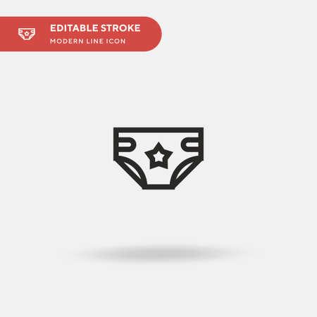 Childhood Simple vector icon. Illustration symbol design template for web mobile UI element. Perfect color modern pictogram on editable stroke. Childhood icons for your business project Ilustração