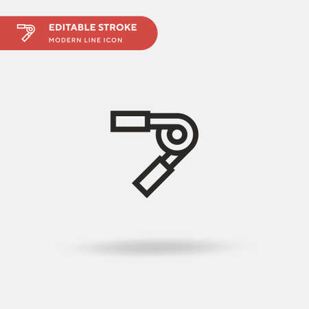 Hand Grip Simple vector icon. Illustration symbol design template for web mobile UI element. Perfect color modern pictogram on editable stroke. Hand Grip icons for your business project Ilustrace