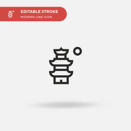 Suzhou Simple vector icon. Illustration symbol design template for web mobile UI element. Perfect color modern pictogram on editable stroke. Suzhou icons for your business project