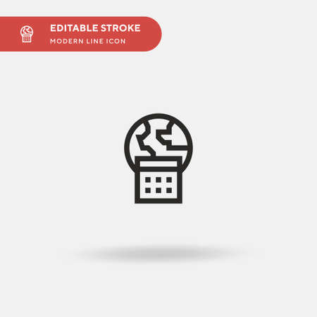 Earth Day Simple vector icon. Illustration symbol design template for web mobile UI element. Perfect color modern pictogram on editable stroke. Earth Day icons for your business project