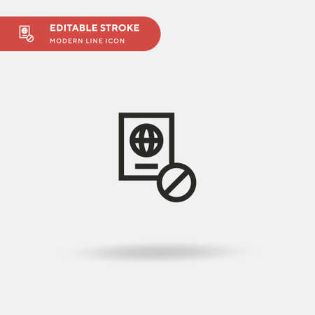 No Traveling Simple vector icon. Illustration symbol design template for web mobile UI element. Perfect color modern pictogram on editable stroke. No Traveling icons for your business project