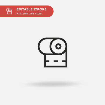 Toilet Paper Simple vector icon. Illustration symbol design template for web mobile UI element. Perfect color modern pictogram on editable stroke. Toilet Paper icons for your business project Stock Illustratie