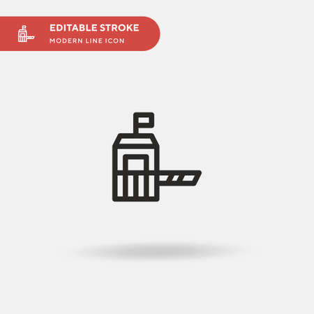 Military Simple vector icon. Illustration symbol design template for web mobile UI element. Perfect color modern pictogram on editable stroke. Military icons for your business project