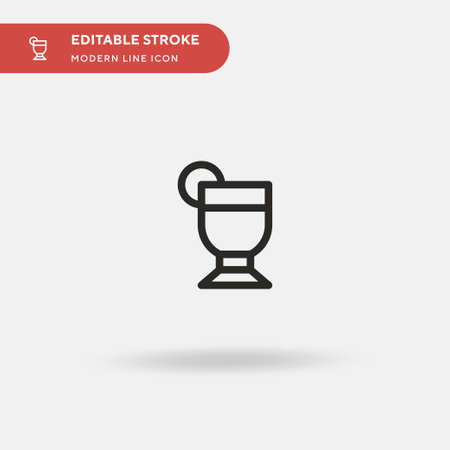 Pisco Sour Simple vector icon. Illustration symbol design template for web mobile UI element. Perfect color modern pictogram on editable stroke. Pisco Sour icons for your business project