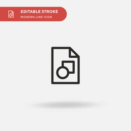 Svg Simple vector icon. Illustration symbol design template for web mobile UI element. Perfect color modern pictogram on editable stroke. Svg icons for your business project 向量圖像