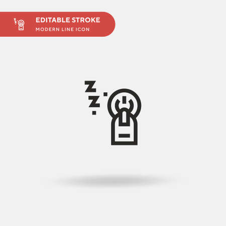 Power Button Simple vector icon. Illustration symbol design template for web mobile UI element. Perfect color modern pictogram on editable stroke. Power Button icons for your business project