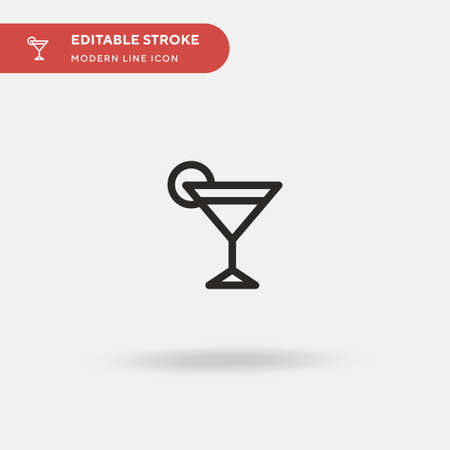 Gimlet Simple vector icon. Illustration symbol design template for web mobile UI element. Perfect color modern pictogram on editable stroke. Gimlet icons for your business project