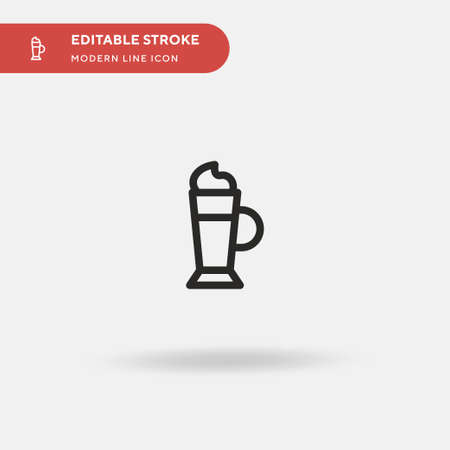 Irish Coffee Simple vector icon. Illustration symbol design template for web mobile UI element. Perfect color modern pictogram on editable stroke. Irish Coffee icons for your business project Illusztráció