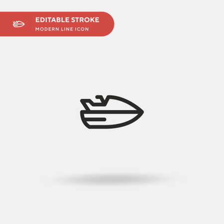 Jetski Simple vector icon. Illustration symbol design template for web mobile UI element. Perfect color modern pictogram on editable stroke. Jetski icons for your business project