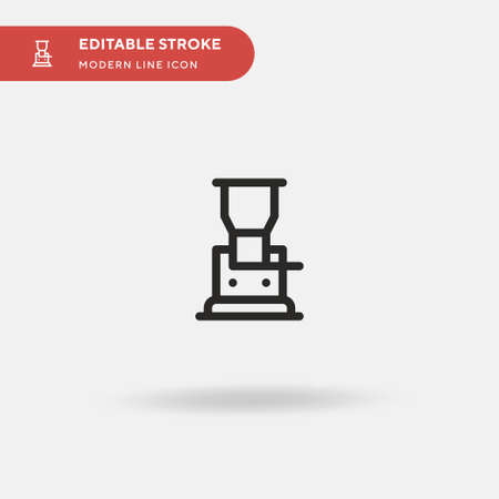 Grinder Simple vector icon. Illustration symbol design template for web mobile UI element. Perfect color modern pictogram on editable stroke. Grinder icons for your business project