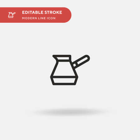 Turkish Coffee Simple vector icon. Illustration symbol design template for web mobile UI element. Perfect color modern pictogram on editable stroke. Turkish Coffee icons for your business project Illusztráció