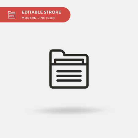 Folder Simple vector icon. Illustration symbol design template for web mobile UI element. Perfect color modern pictogram on editable stroke. Folder icons for your business project