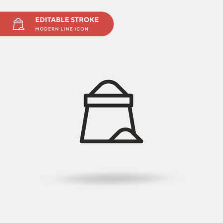 Flour Simple vector icon. Illustration symbol design template for web mobile UI element. Perfect color modern pictogram on editable stroke. Flour icons for your business project Иллюстрация