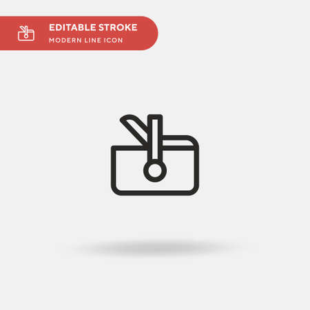 Portable Fridge Simple vector icon. Illustration symbol design template for web mobile UI element. Perfect color modern pictogram on editable stroke. Portable Fridge icons for your business project