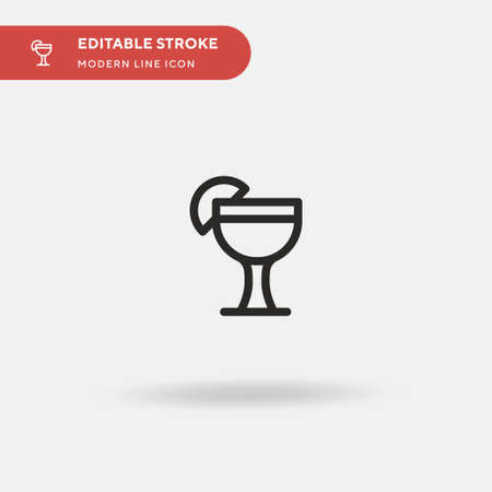 Daiquiri Simple vector icon. Illustration symbol design template for web mobile UI element. Perfect color modern pictogram on editable stroke. Daiquiri icons for your business project