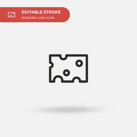 Cheese Simple vector icon. Illustration symbol design template for web mobile UI element. Perfect color modern pictogram on editable stroke. Cheese icons for your business project Иллюстрация