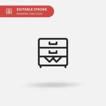 Filing Cabinet Simple vector icon. Illustration symbol design template for web mobile UI element. Perfect color modern pictogram on editable stroke. Filing Cabinet icons for your business project Vettoriali