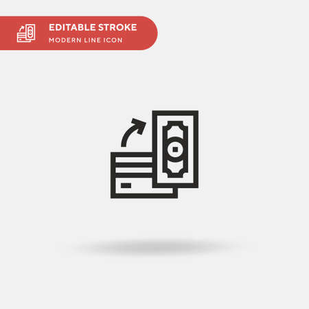 Exchange Simple vector icon. Illustration symbol design template for web mobile UI element. Perfect color modern pictogram on editable stroke. Exchange icons for your business project 向量圖像