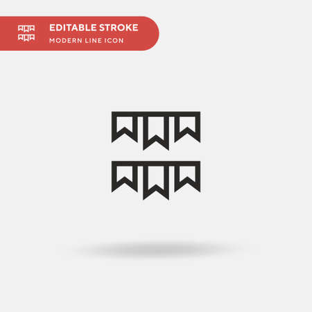 Garland Simple vector icon. Illustration symbol design template for web mobile UI element. Perfect color modern pictogram on editable stroke. Garland icons for your business project